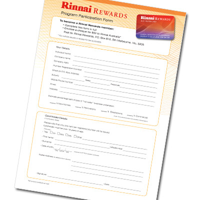 Custom-Branded Program Participation Form