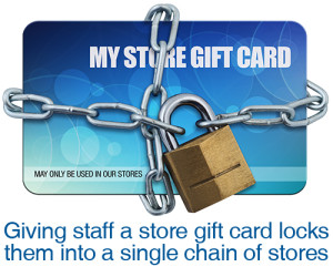 Store gift cards lock recipients into a single chain of stores